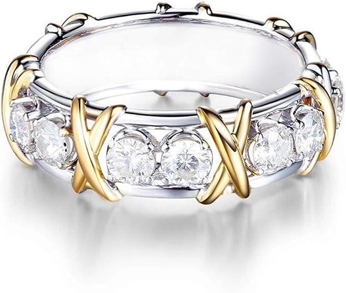 Yiwanjia Platinum Set with Gemstone Diamond Ring Luxury Fashion Ring Engagement Wedding Anniversary Party Ring