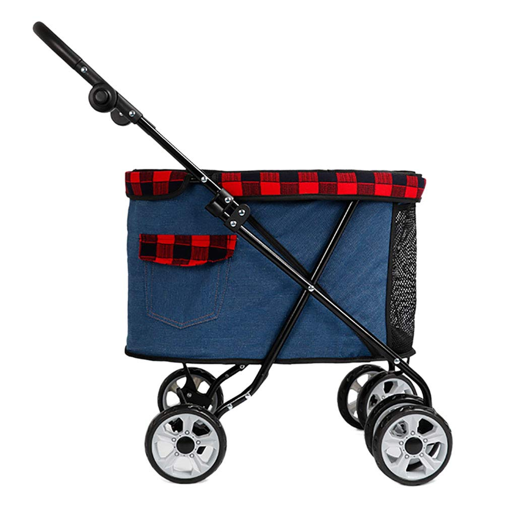 B Pet Foldable Stroller on Wheels, Portable small dog travel supplies, 3 color