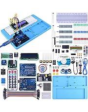 UNIROI Arduino UNO Starter Kit pour Débutant, Amélioré Kit de Démarrage Projet pour Arduino UNO R3 Mega 2560 Robot Nano Breadbroad Kit avec Support RAB, Tutoriels Gratuits UA005