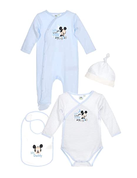 Mickey Mouse - Pelele para dormir - para bebé niño azul 1 mes