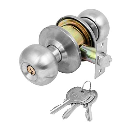 Uxcell Ball Keyed Entry Door Knob Lock Set With Three Keyed Knobset For  Bedroom And Bath