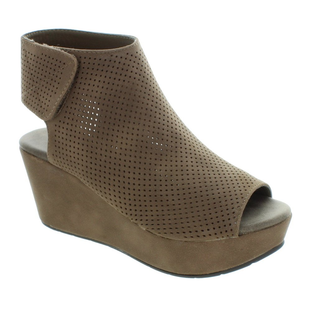 Pierre Dumas Women's Natural-2 Backless Slip-On Chunky Stacked Heel Fashion Mule Bootie B07491QBFL 5.5 B(M) US|Taupe