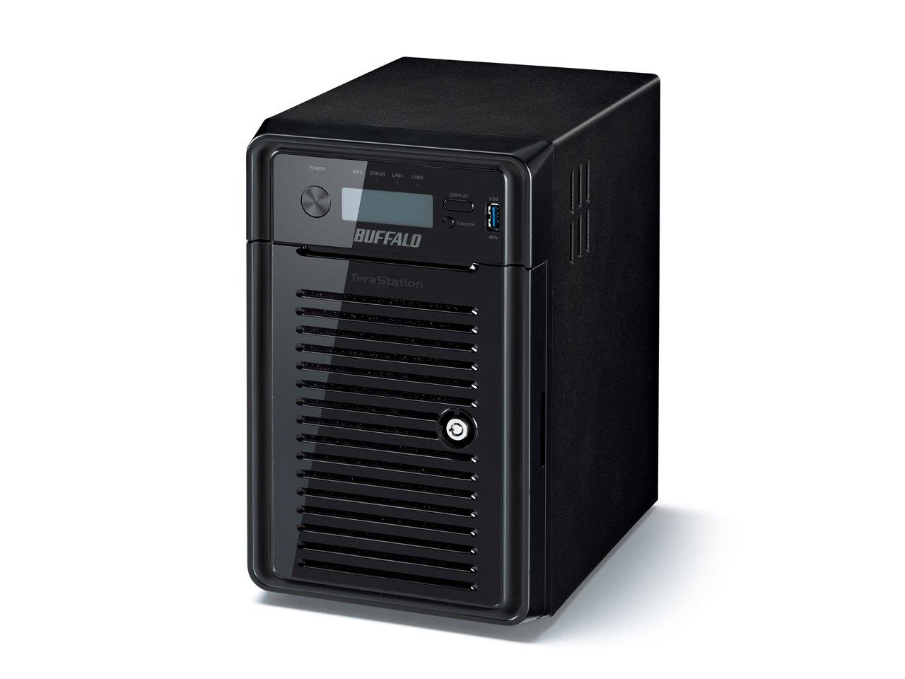 Buffalo TeraStation WS5600 Ethernet Escritorio Negro NAS - Unidad Raid (24 TB, Unidad de Disco Duro, Unidad de Disco Duro, Serial ATA II, 4000 GB, 3.5