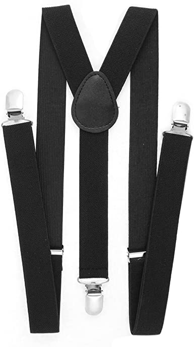 Trouser Braces Black AB 100-160 cm length 1,8 cm wide