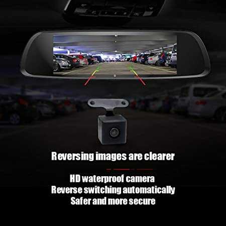 Amazon.com: 1080P HD Car Dash Camera Dual Cam, Vehicle Front Rear DVR Lens Video Recorder, Loop Recording, Parking Recording, G-Sensor, Automatic Recording ...