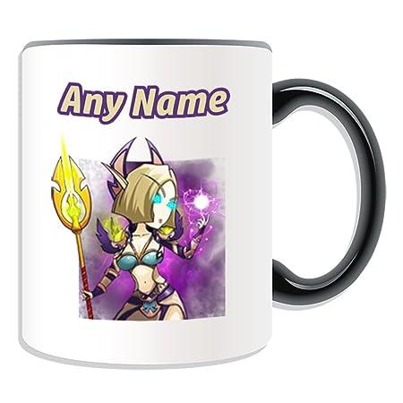 UNIGIFT Personalised Gift - Blood Elf Female Mage Mug