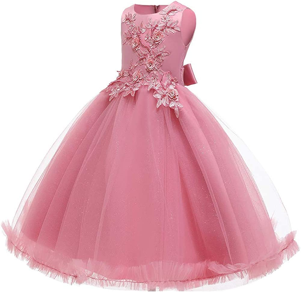 Flower Girl Party Dress Wedding Tutu Formal Gown Princess Kids Fancy Formal