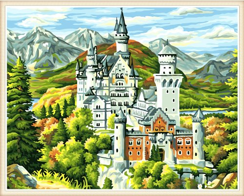 DIY PBN-paint by number Neuschwanstein Castle 16X20 inches Frameless.