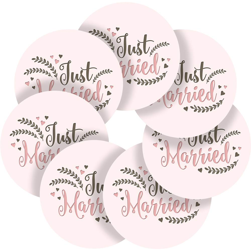 Just married wedding reward sticker labels 35 stickers 1 4 inch glossy photo quality ideal for children parents teachers schools doctors nurses