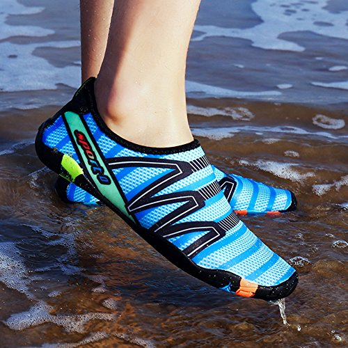 fereshte Unisex Lightweight Barefoot Quick-Dry Aqua Water Shoes Yoga Socks Athletic Sport Sneakers for Gym Swim 314 Sapphire-unisex 0QLABoR