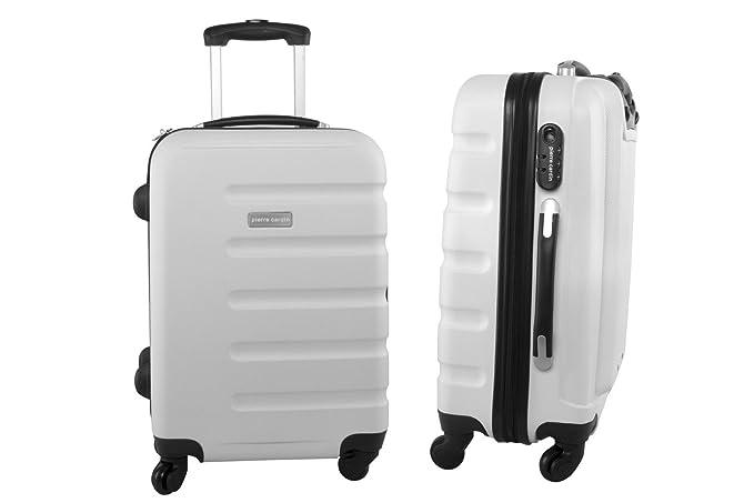 Pierre Cardin Maleta rígida blanco mini equipaje de mano ryanair S208