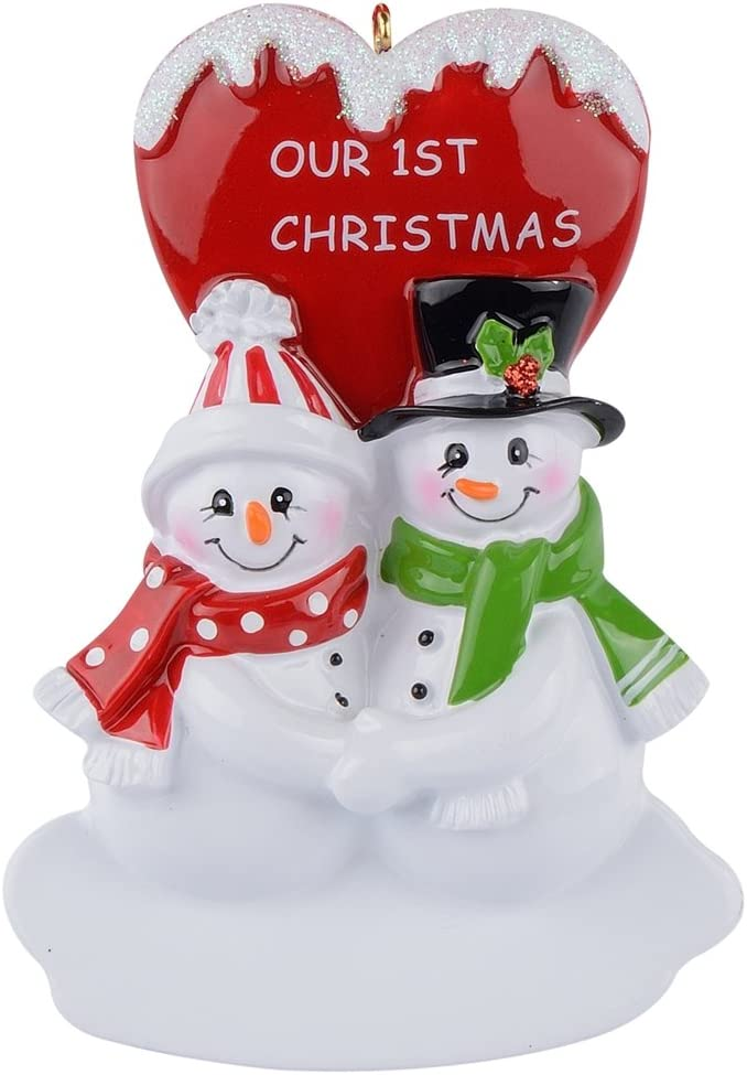 WorldWide Our 1st Christmas Snowman Couple Personalized Ornament