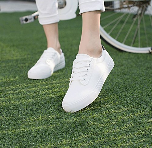 Dream Lace Canvas Shoes Students Casual Shoes Breathable Flat Shoes Women's Outdoor Shoes White V9h0wO