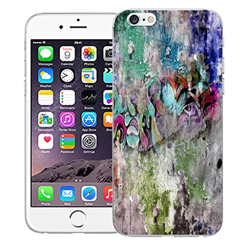 """Mobile Case Mate iPhone 6S Plus 5.5"""" Silicone Coque couverture case cover Pare-chocs + STYLET - Wall Art pattern (SILICON)"""