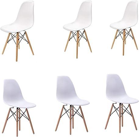 Set di 6 sedie da Pranzo in Stile Moderno Sedia Mid Century