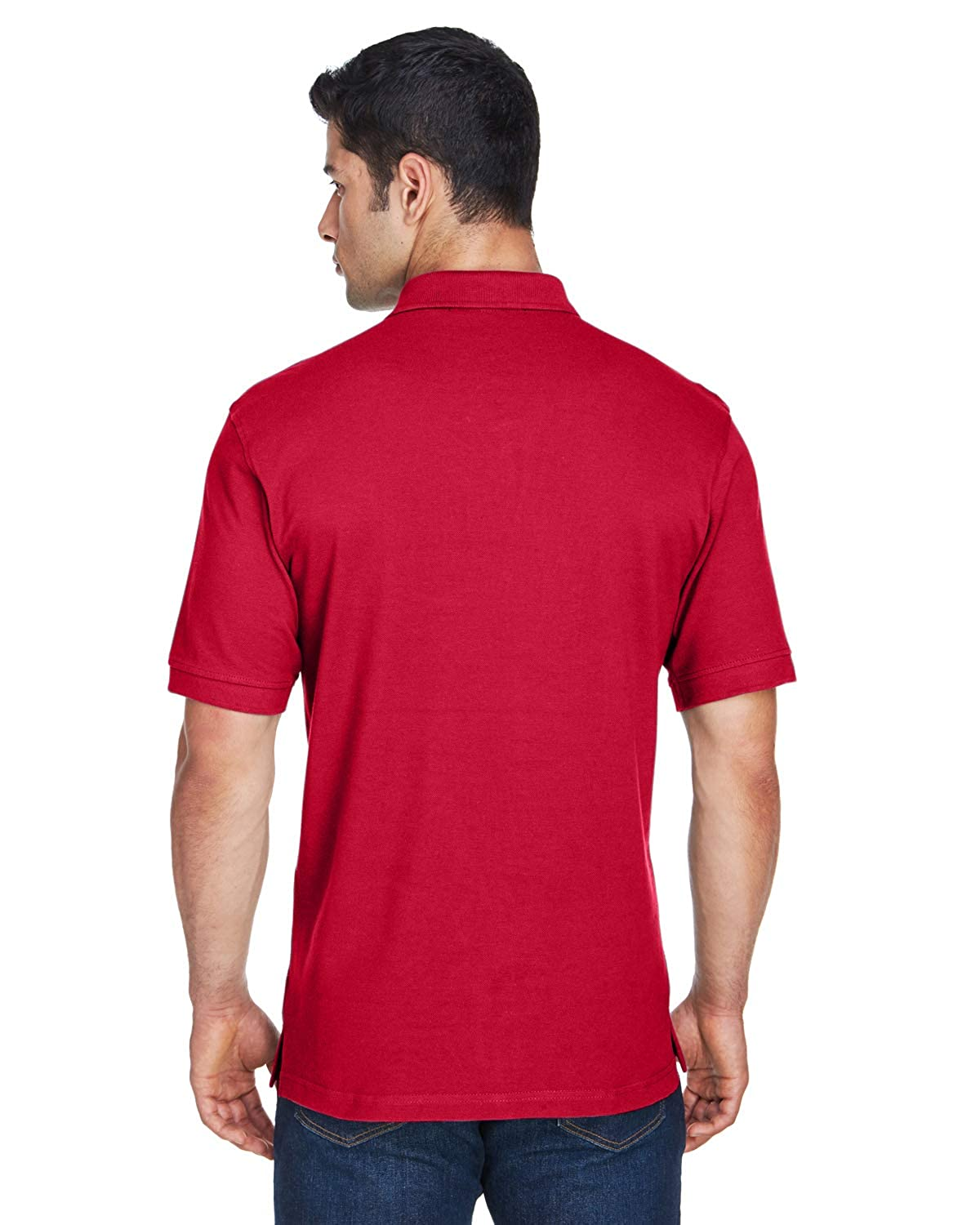 M200 Harriton Mens Ringspun Cotton Pique Short-Sleeve Polo