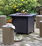 """Plow & Hearth 13911 Wicker Propane Gas Fire Pit, 30″ Square x 24″"""" Review"""