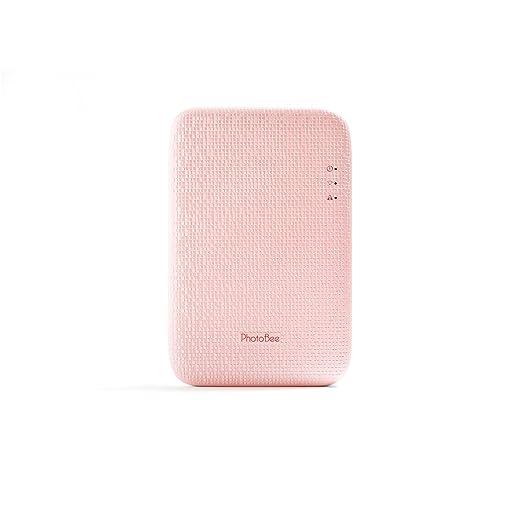 PhotoBee - Impresora fotográfica portátil para movil - Compatible IOS y Android - Rosa