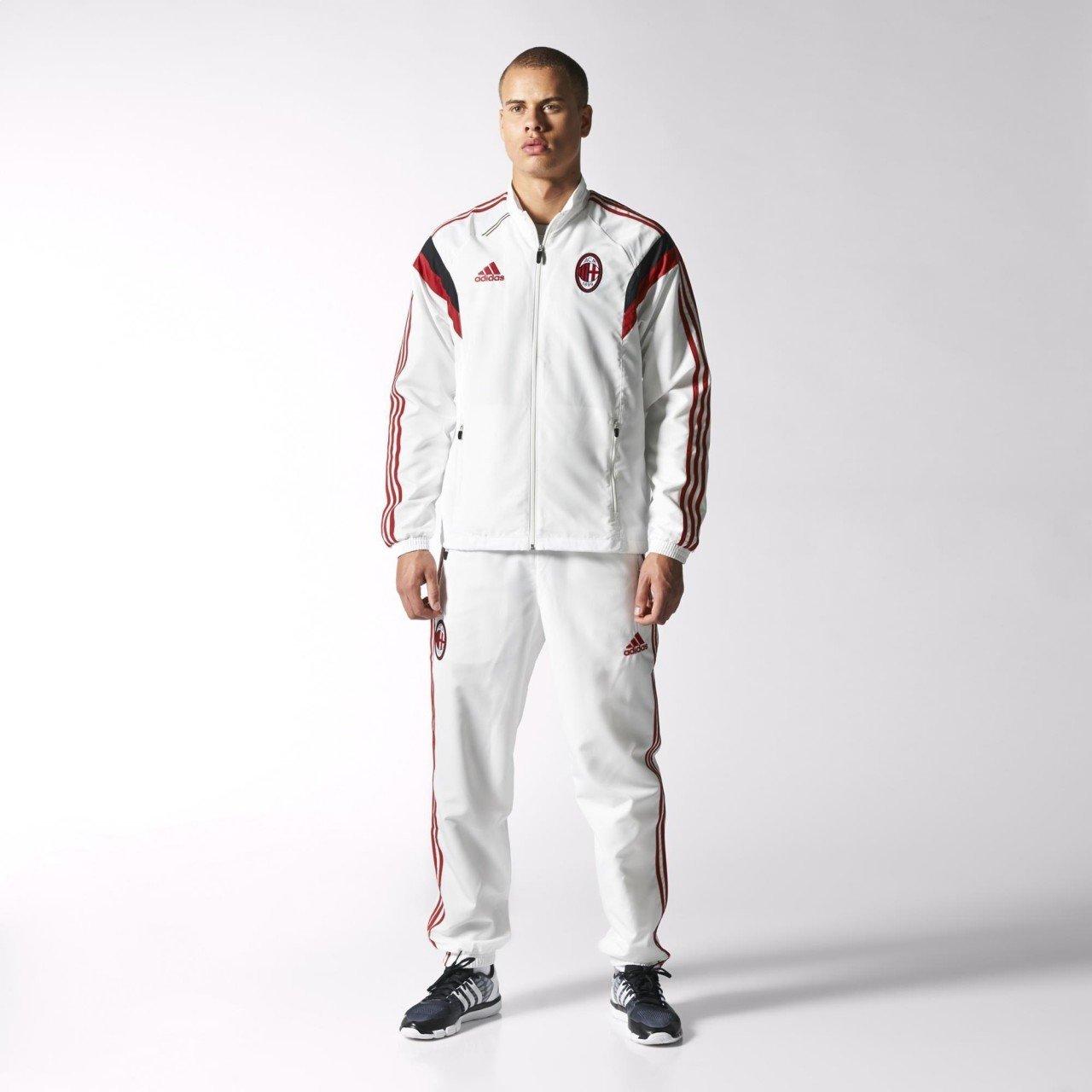 Adidas - MILAN CHANDAL PRESENTACION 14/15 color: Blanco talla: 2XL ...