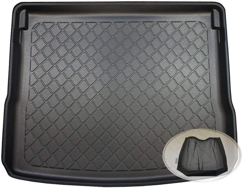 Zentimex Z3128220 Gummierte Kofferraumwanne Fahrzeugspezifisch Klett Organizer Laderaumwanne Kofferraummatte Auto