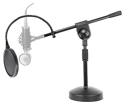Rockville Podcast - Micrófono de escritorio con soporte + Boom+ ...