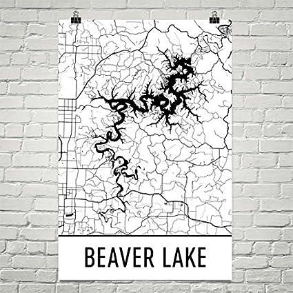 Amazon.com: Beaver Lake Arkansas, Beaver Lake AK, Beaver Lake Map ...