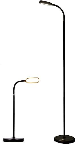 KOZIS Cordless Rechargeable Type-C FlexLamp   2-in-1 Desk Floor Customizable   3 Colors Adjustable Gooseneck   Stepless Dimming   Lamp