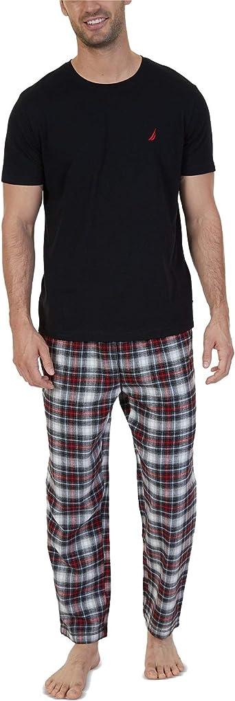 Nautica Mens Flannel Pant Pajama Set