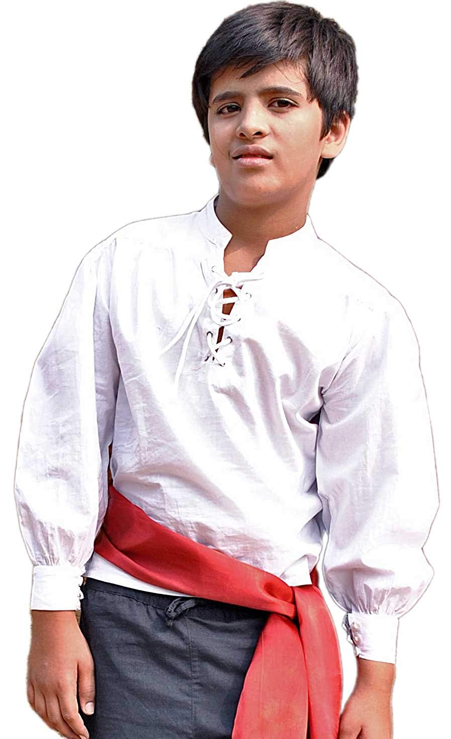 Kids Pirate Costume Shirt (Large (9-11 yrs))