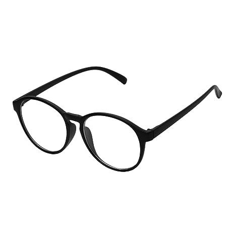 d01826e8d2f8b0 forepin Lunettes Rondes Vintage Homme et Femme Montures Lunettes de Vue  Cadre Frame Lentille Claire Verres Optiques Unisex Mode(Noir)  Amazon.fr   High- ...