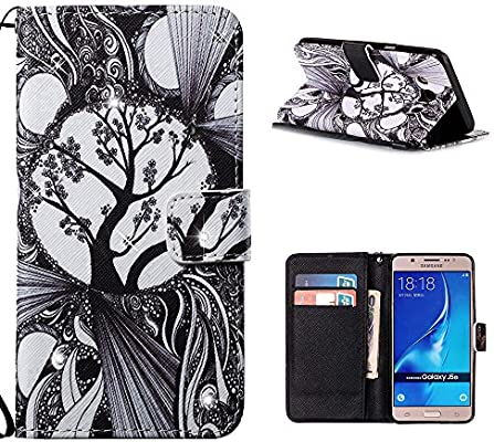 Amazon.com: Galaxy J5 2016 Case, SHUNDA Leather Wallet Case ...