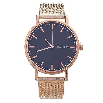 44e8770925cf Romdink Reloj de Cuarzo Reloj Negro Simple Reloj de Mujer  Amazon.es  Hogar