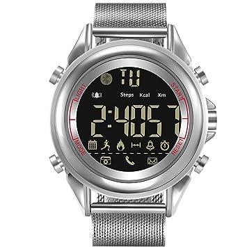 Gereton Reloj inteligente con Bluetooth, podómetro de fitness, relojes inteligentes, resistente al agua