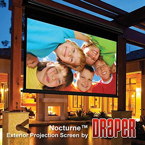 Outdoor Projector Screen Draper 138012 Nocturne/Series E 106 diag. (52x92) - HDTV [16:9] - Contrast Grey XH800E 0.8 Gain