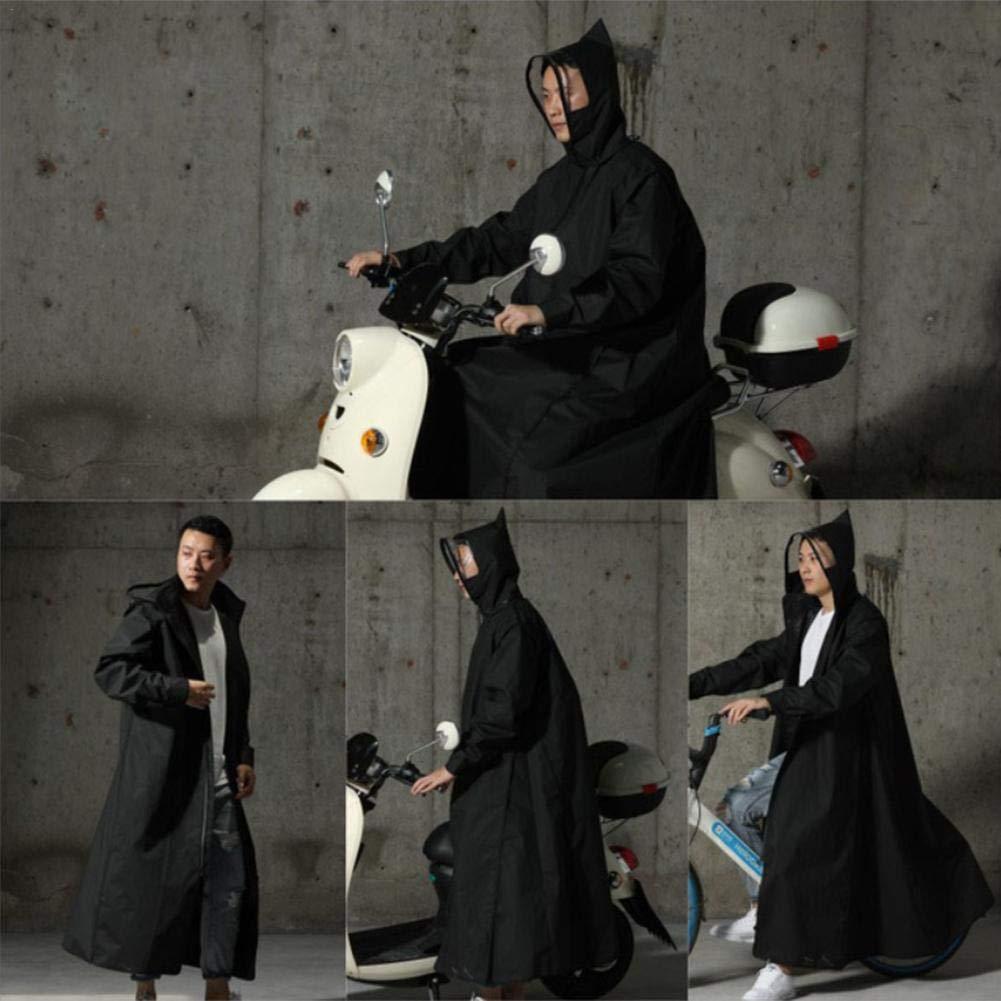 precauti EVA Raincoat Vêtements de Pluie de Moto de Poncho à Capuchon de Fermeture éclair pour Femmes/Hommes pour Le Cyclisme et la randonnée en Plein air XXXL