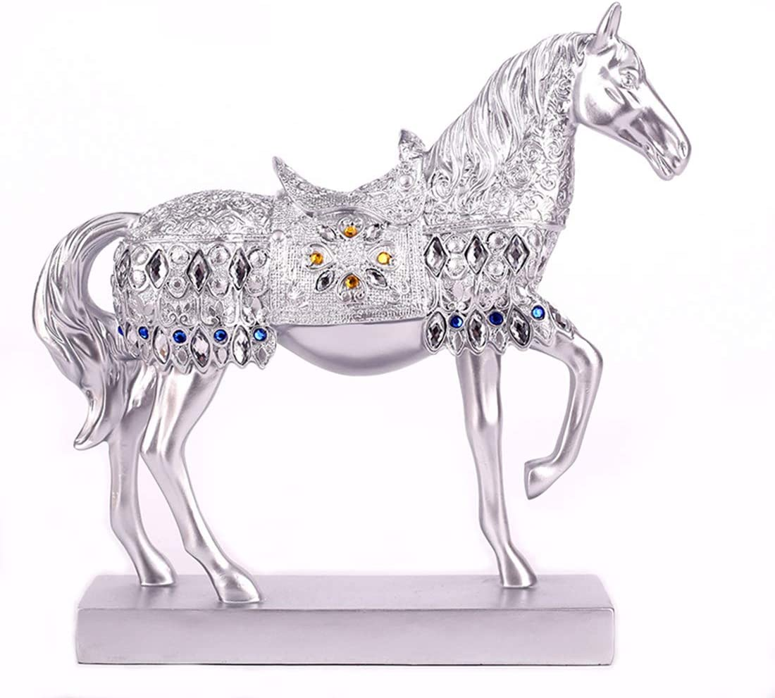 Chinese Feng Shui Horse Statue Sculpture Home Office Decoration Tabletop Decor Ornaments for Wealth and Success Good Lucky Gifts