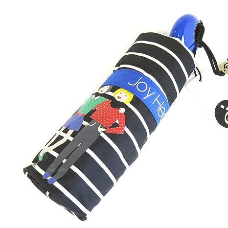 Paraguas mini Joy Heartazul negro (caminata).