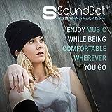 SoundBot SB210 HD Stereo Bluetooth 4.1 Wireless Smart Beanie Headset Musical Knit Headphone Speaker Hat Speakerphone Cap,Built-in Mic (BLK/BLK)