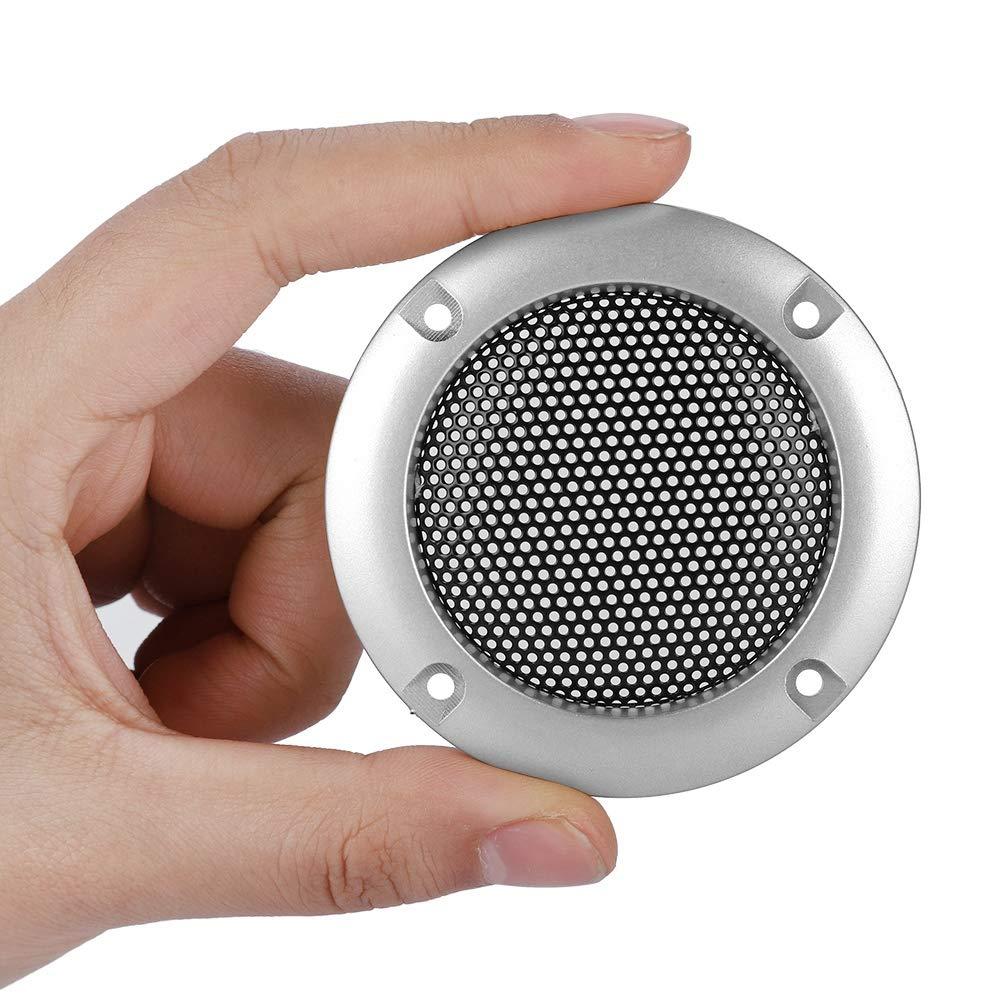 Haute Qualit/é 2 Pouces Haut-Parleur D/écoration Grille De Protection D/écor Rack Mugast 2PCS Haut-Parleur Grille Grill Noir Syst/ème Audio Grille Haut-Parleur Protecteur Cover