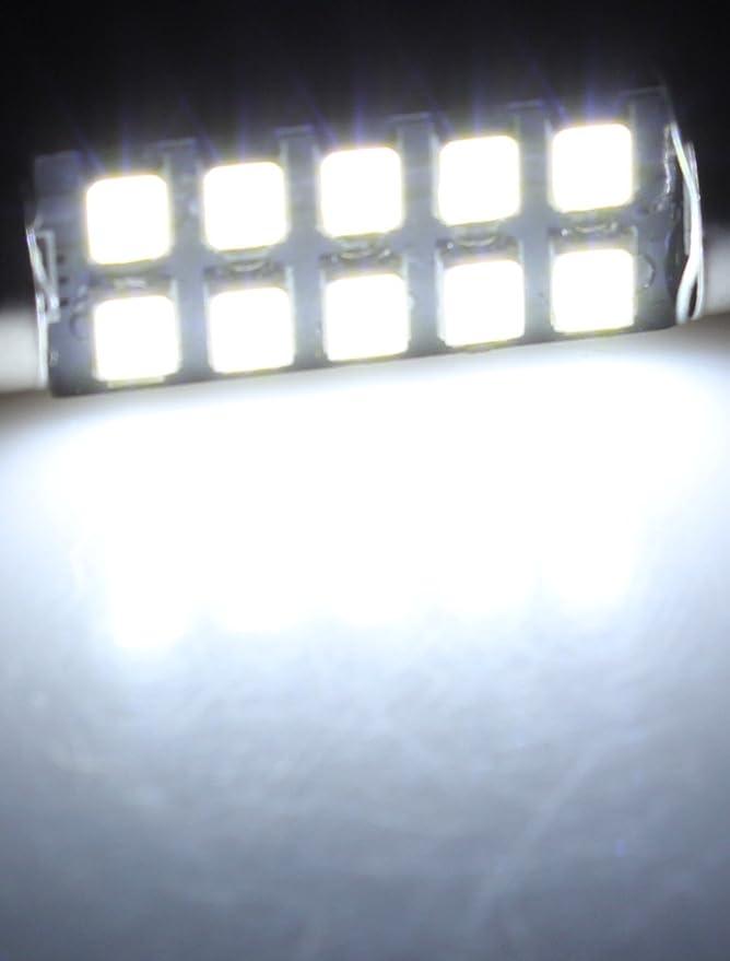 Amazon.com: eDealMax 2pcs 3528 DE 41 mm Blanco 10 LED de la bóveda del Adorno Mapa Luz: Automotive