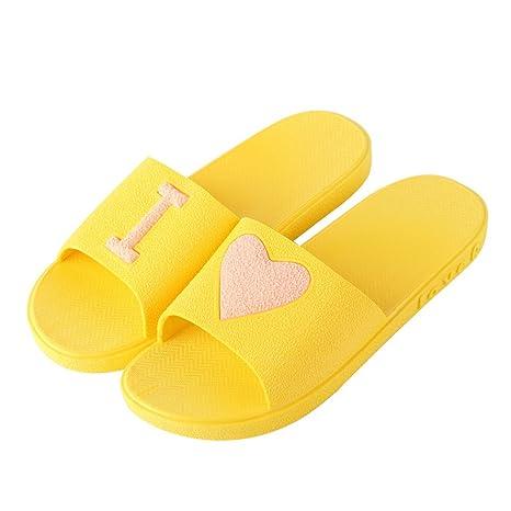 Eizur Pantofole Doccia Antiscivolo Amante Punta Aperta Ciabatte Bagno Sandali  Scarpe Piatte Scarpe da spiaggia Ciabatte 156b4ce5209