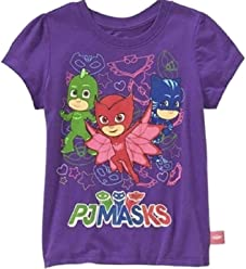 d67f0b62 PJ Masks Toddler Girls' Short Sleeve T-Shirt 2T Purple Group Tee PJ Masks