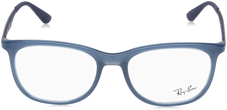 5aa3a415094 Amazon.com  Ray-Ban Men s RX7078 Eyeglasses Trasparent Light Blue 53mm   Clothing
