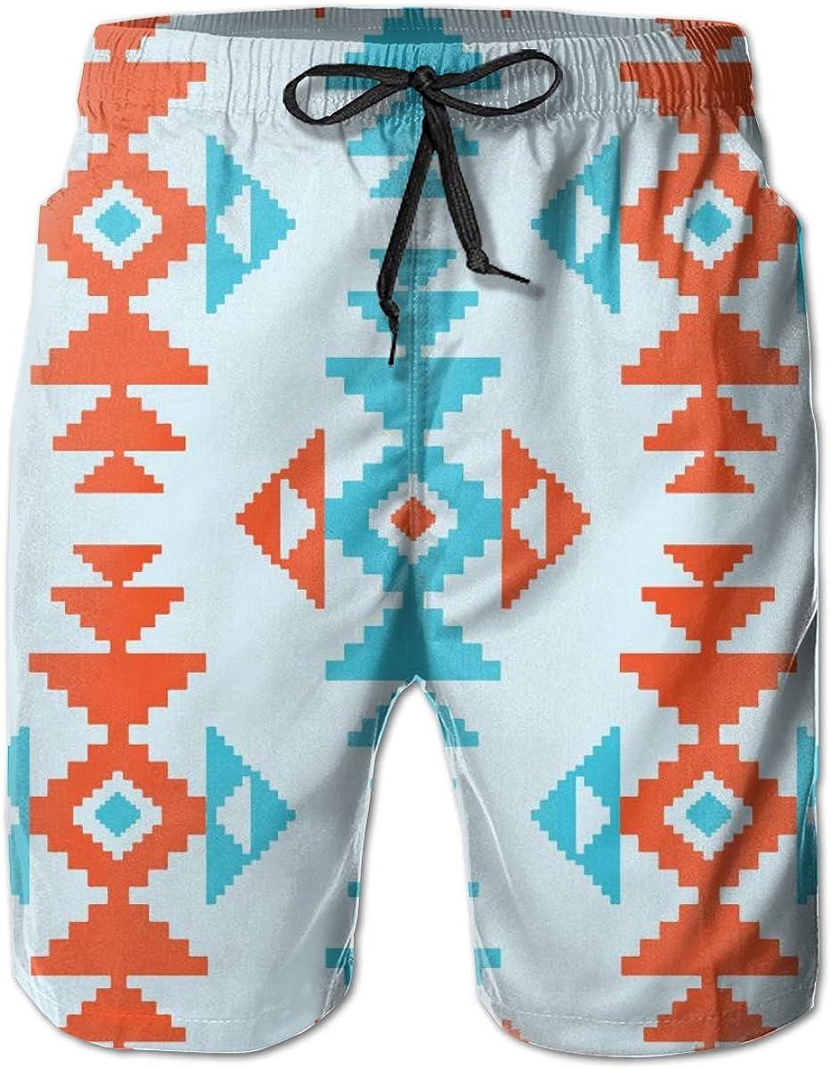 xiaolang Native Pattern2 Mens 3D Printed Funny Swim Trunks Quick Dry Beachwear Sports Running Swim Board Shorts Mesh Lining