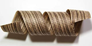 "product image for 100% Biodegradable Natural Ribbon | Prints & Stripes | Ribbon for Crafts | Cotton Curling Ribbon | Holiday Ribbon | Wrapping Ribbon | Eco-Friendly Ribbon (Mocha Chambray, 5/8"" x 100 Yards)"