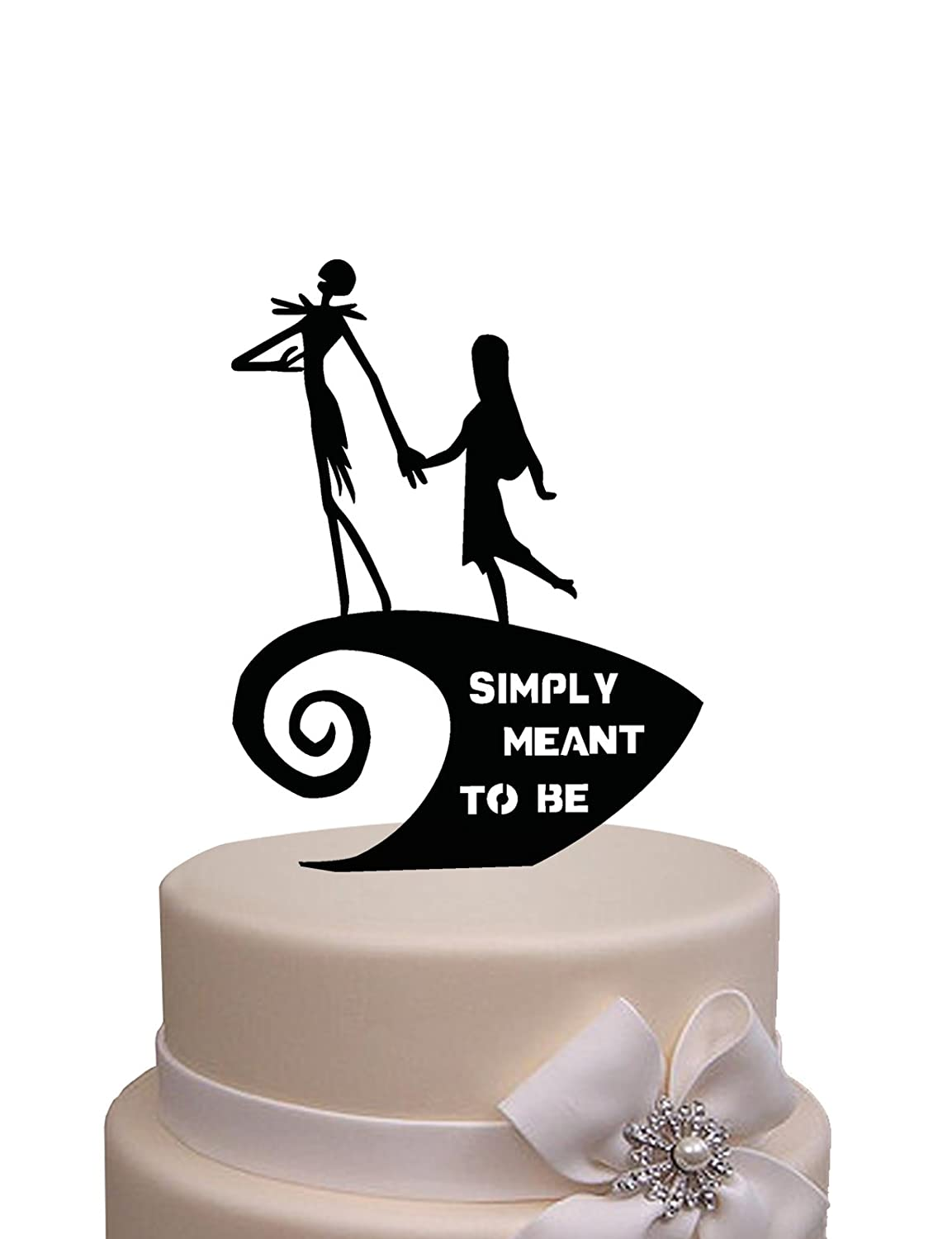 Wedding Cake Topper -The Nightmare Before Christmas with Simply ...