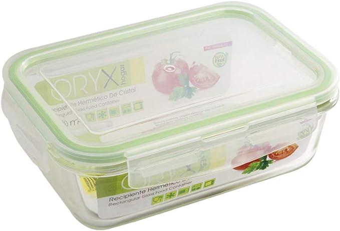 Alt. cm. Oryx 5025011 Recipiente Hermetico Plastico Cuadrado 400 ml 11x11x6