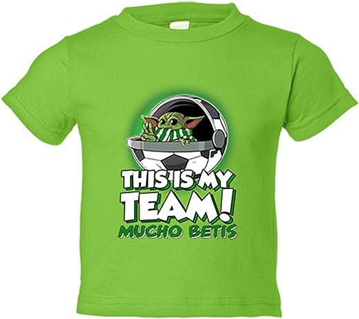 Camiseta niño parodia baby Yoda mi equipo de fútbol Mucho Betis - Pistacho, 3-4 años: Amazon.es: Bebé