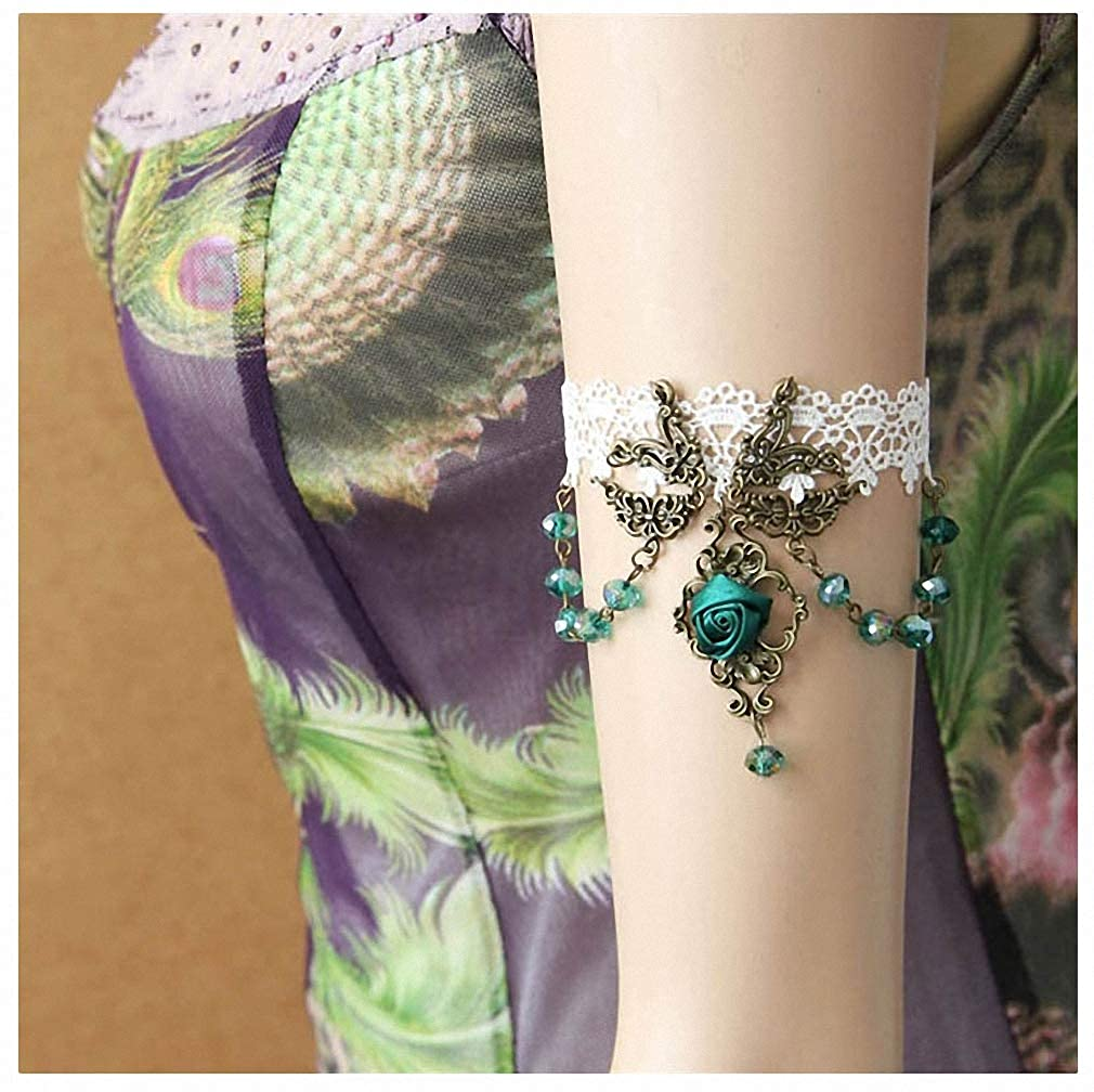 Womens Lace Bracelet DIY Lace Arm Bracelet for Women Arm Bangles Fashion Summer Girl Jewelry Handmade Gothic Jewelry AT-33