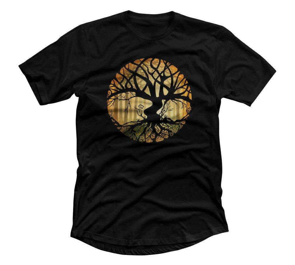 Druid Tree S Black Graphic T Shirt